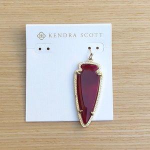 Kendra Scott Single Maroon Skylar Earring